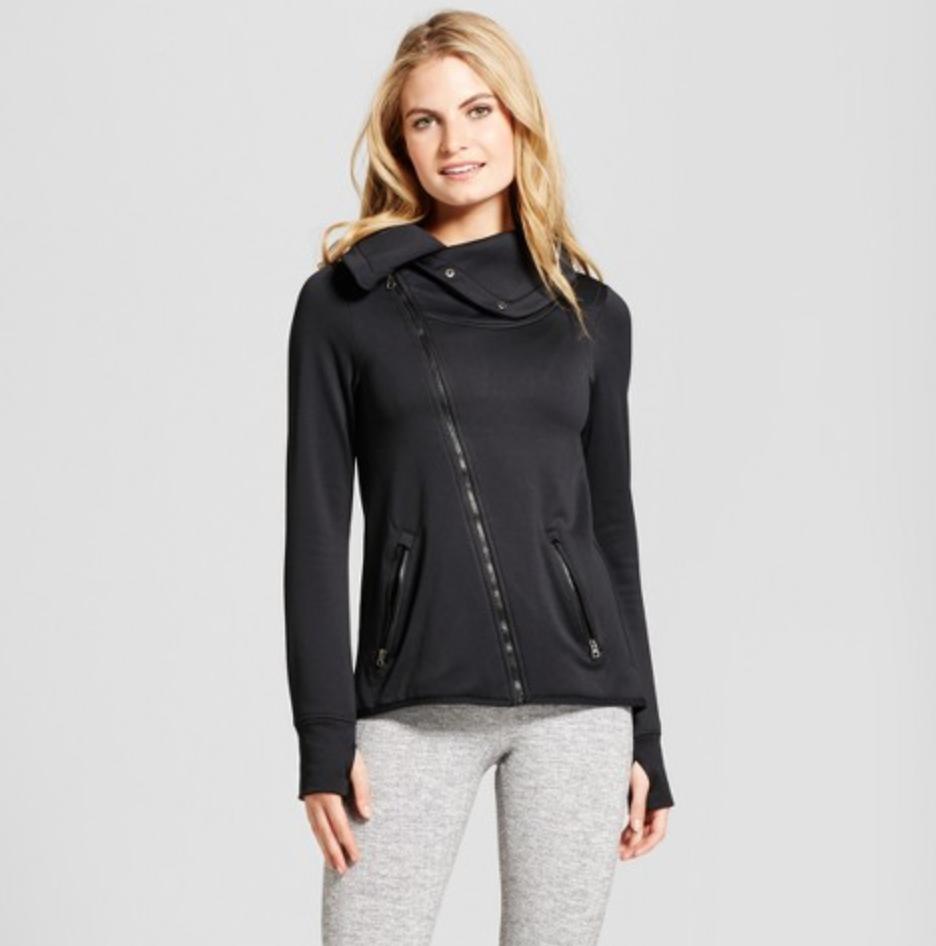 Women's Tech Fleece Asymmetrical Jacket from C9 Champion, $34.99  Photo Credit:  Target