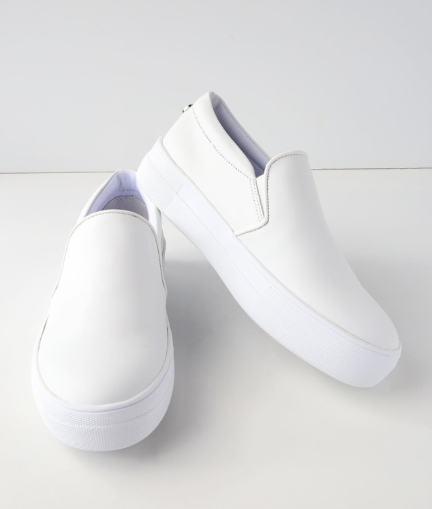 Gills White Leather Flatform Sneakers from Steve Madden, $79  Photo Credit:  Lulus