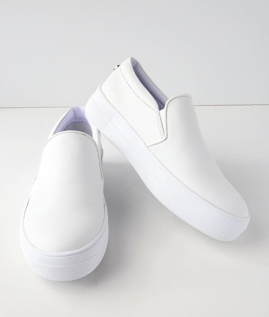 Gills White Leather Flatform Sneaker from Steve Madden, $79  Photo Credit:  Lulus