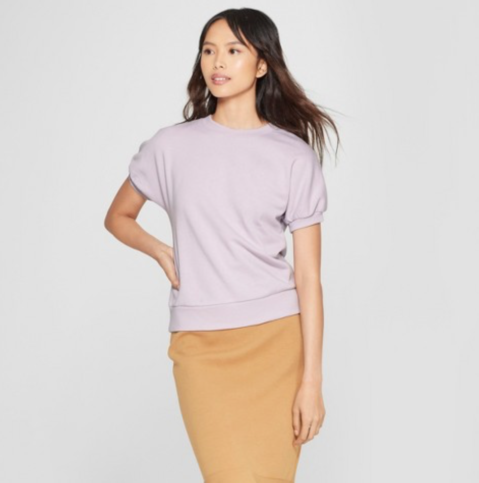 Women's Short Sleeve Sweatshirt by Who What Wear, $19.99  Photo Credit:  Target