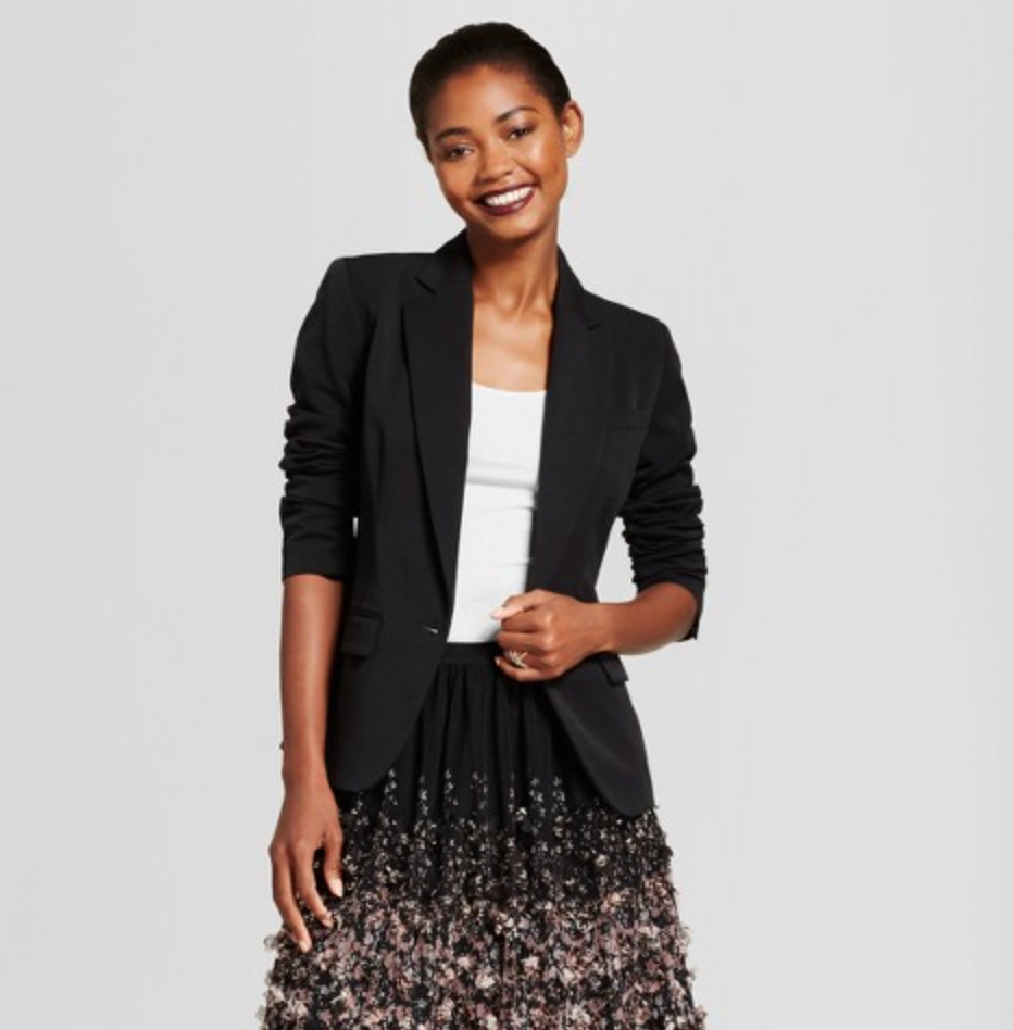 Women's Bi-Stretch Twill Blazer by A New Day, $34.99  Photo Credit:  Target