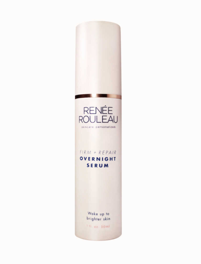 Firm + Repair Overnight Serum - Renee Rouleau, $72.50This serum is worth its weight in gold. This one product has probably made the biggest difference in the surface and brightness of my skin since I first started using it.Both firming and brightening, I apply this right before bed after the Renee Rouleau toner. I let it absorb for a minute or two, and then apply a rich moisturizing night cream.
