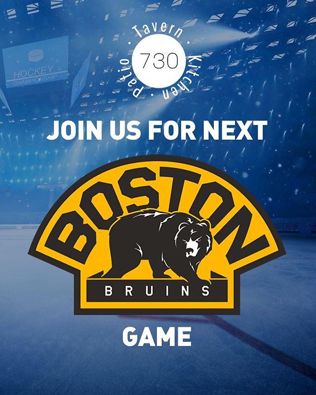 #bostonbruins at 7:00pm  #730tavern #hockey #bostonfoodies #boston #cambridgema