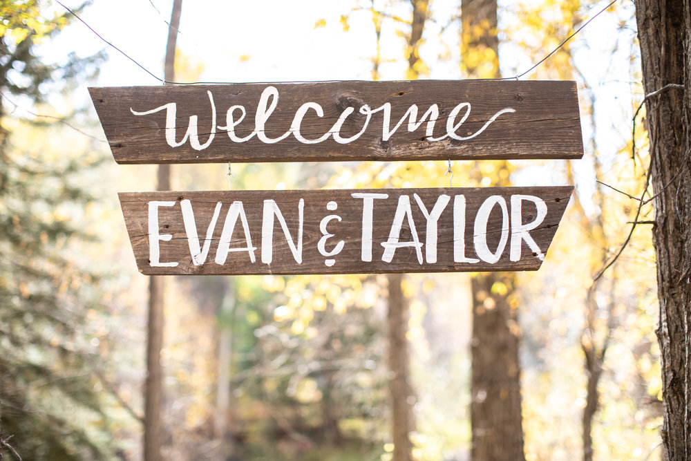 Wooden wedding sign Colorado