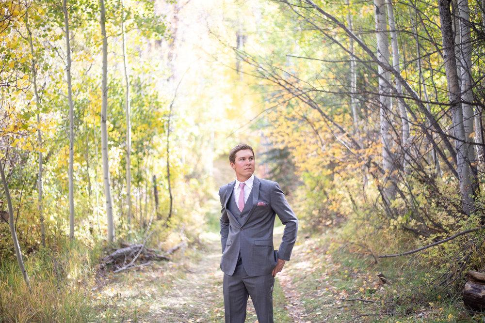 groom wedding photo portrait durango colorado