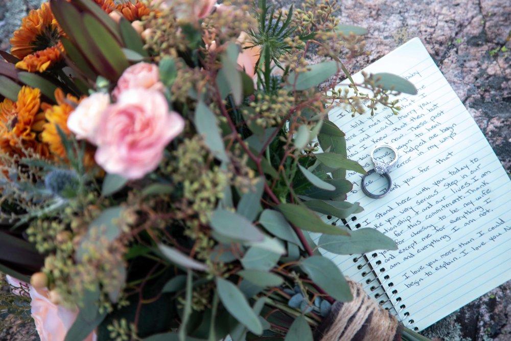 Vows of a Durango, CO wedding