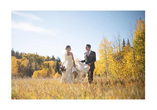 Taylor and Evan's epic autumn wedding is live on the site. Give it a glance if you'd like! Link in bio.  #rmbcolorado #outdoorwedding #mountainwedding #wildernesswedding #realwedding #realbride