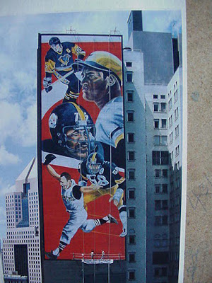 Sports Mural by Judy Penzer - Photo by Gregg Puchalski