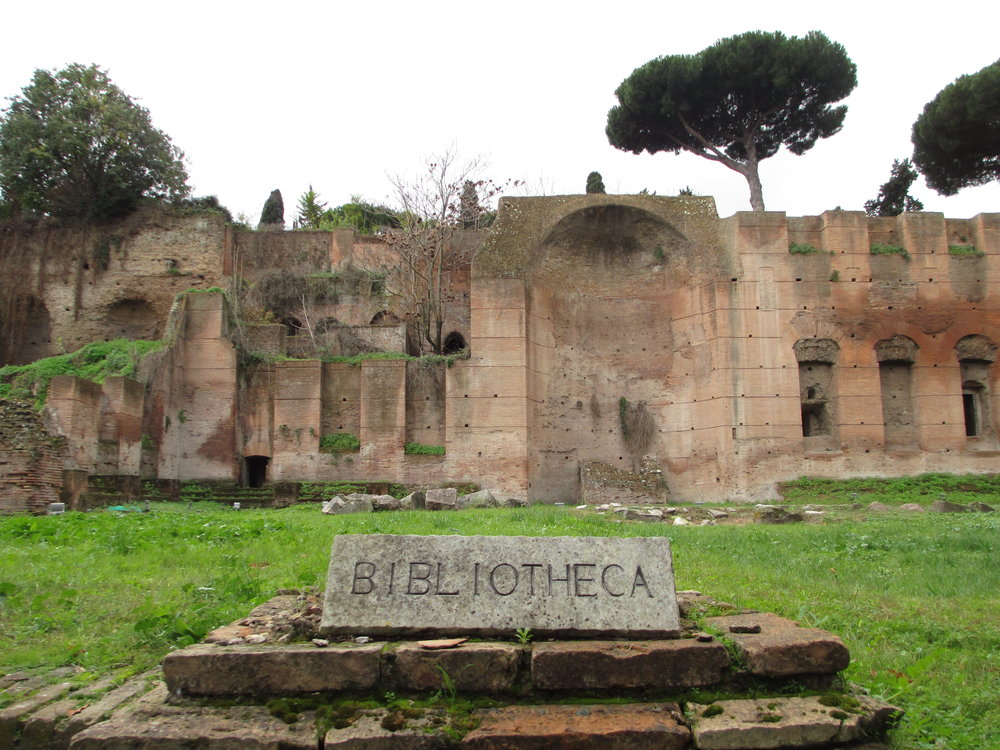 OB13 library at the baths of caracalla.JPG