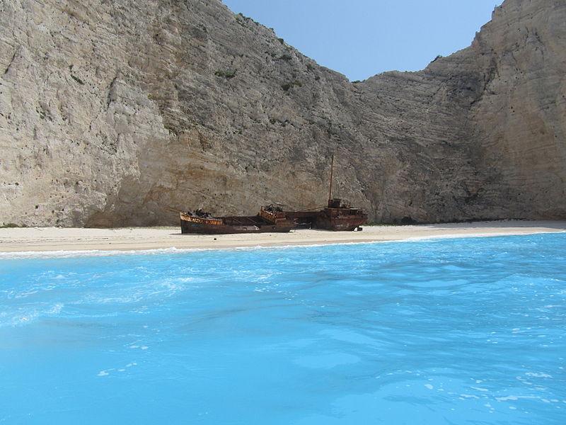115JQ17 Navagio_Beach_and_Shipwreck_of_the_Panagiotis_at_'Smugglers_Cove'_Zakynthos.JPG