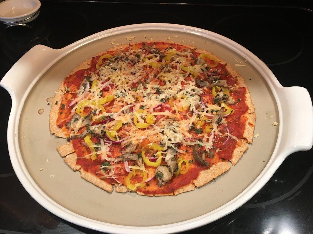 Joe and Linda's Vegan pizza