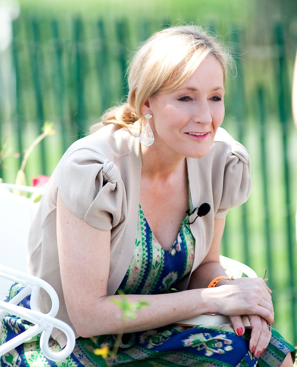 J.K. Rowling reads from  Harry Potter and the Sorcerer's Stone  during the Easter Egg Roll at the White House. Photo by Daniel Ogren.