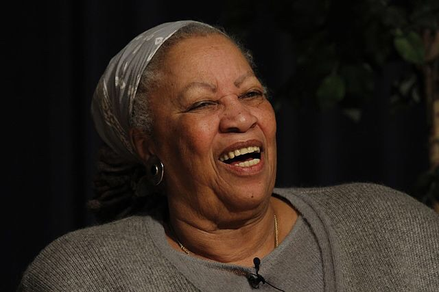 Toni Morrison lectures at West Point Military Academy, 28 March, 2013. Public domain.