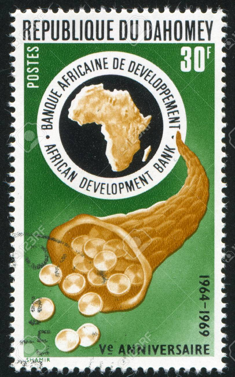103 OB13 inted-by-dahomey-shows-cornucopia-and-bank-emblem-circa-1969 government stamp.jpg