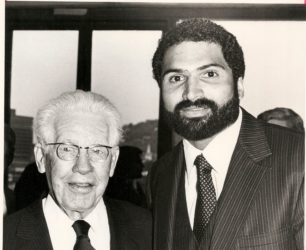 Art Rooney with Franco Harris