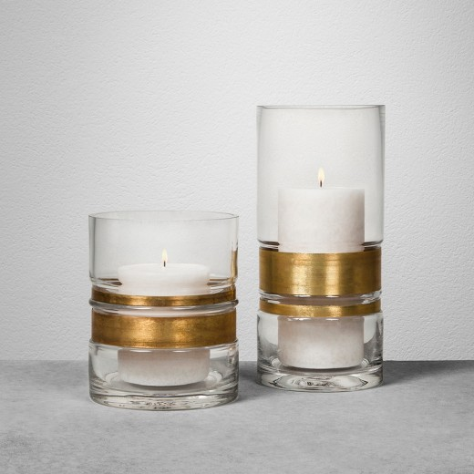 Brass and glass candle holder_Hearth and Hand.jpg