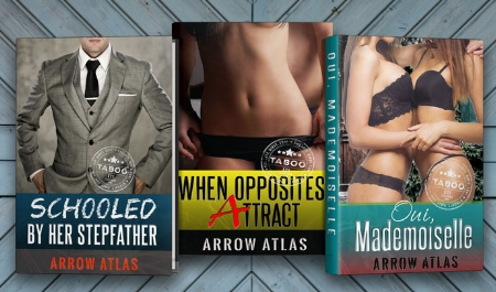 These three free... - These are are the three exclusive stories you get by email as soon as you confirm: Schooled by Her Stepfather, When Opposites Attract and Oui, Mademoiselle. Enjoy!