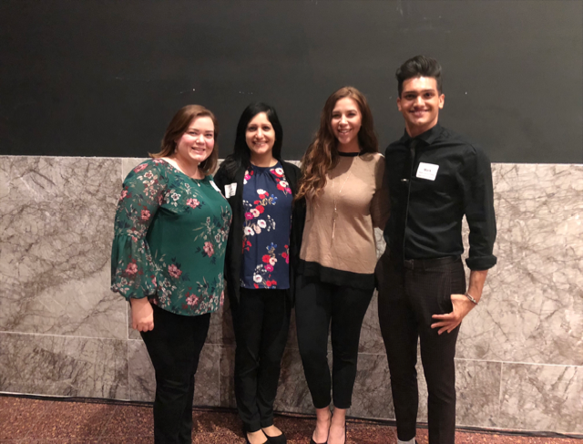Our intern with a few of the Dala team members at The Dallas Regional Cahmber YP Summit