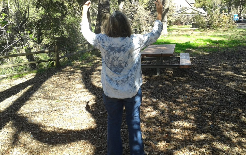 Qigong in the park.