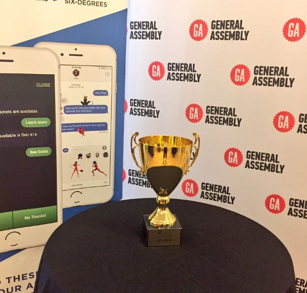 """The #AppIdeaAwards trophy is all set up...who will be the winner tonight?"""
