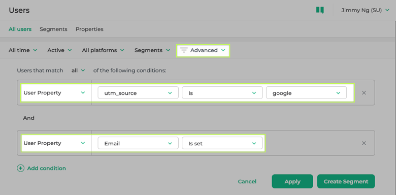 Searching for UTM Parameters in Instabot