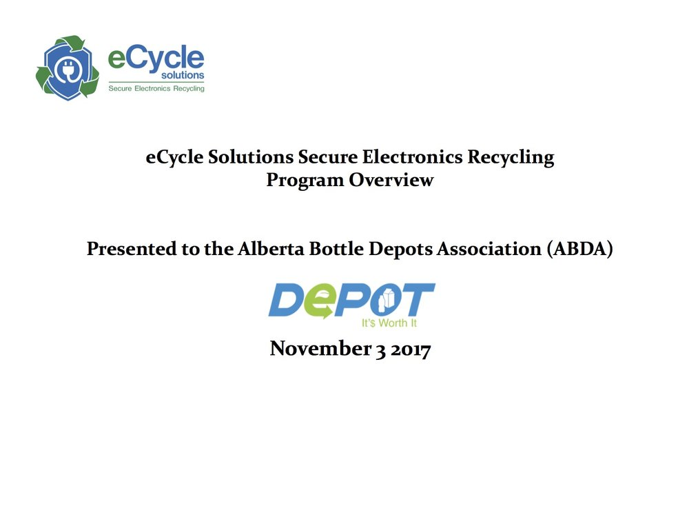 eCycle Solutions - Corporate Overview - ABDA