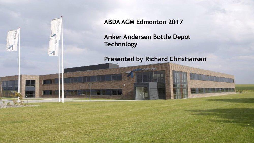 Richard Christiansen - Anker Andersen    2017 ABDA Edmonton