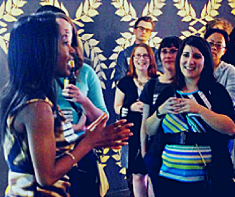 Speaking at a Young Nonprofit Professionals Network event at Public Functionary.