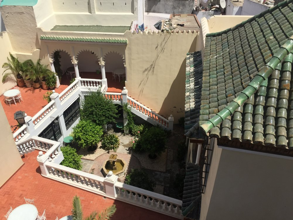 View of the courtyard of the Legation from the roof.JPG
