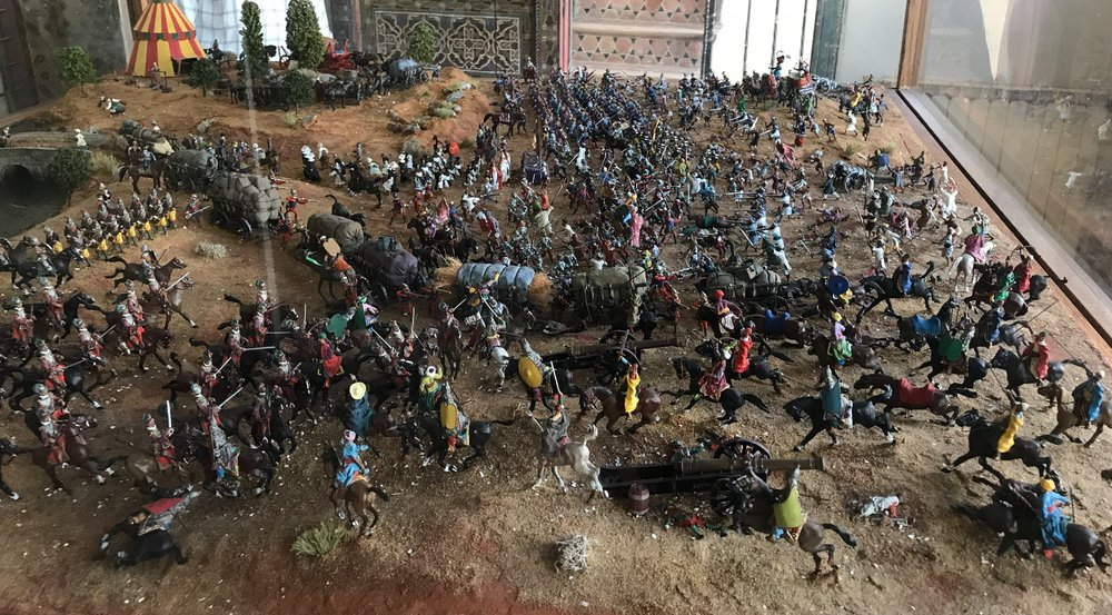 A diorama of soldiers -- Malcolm Forbes - American Legation Museum.JPG