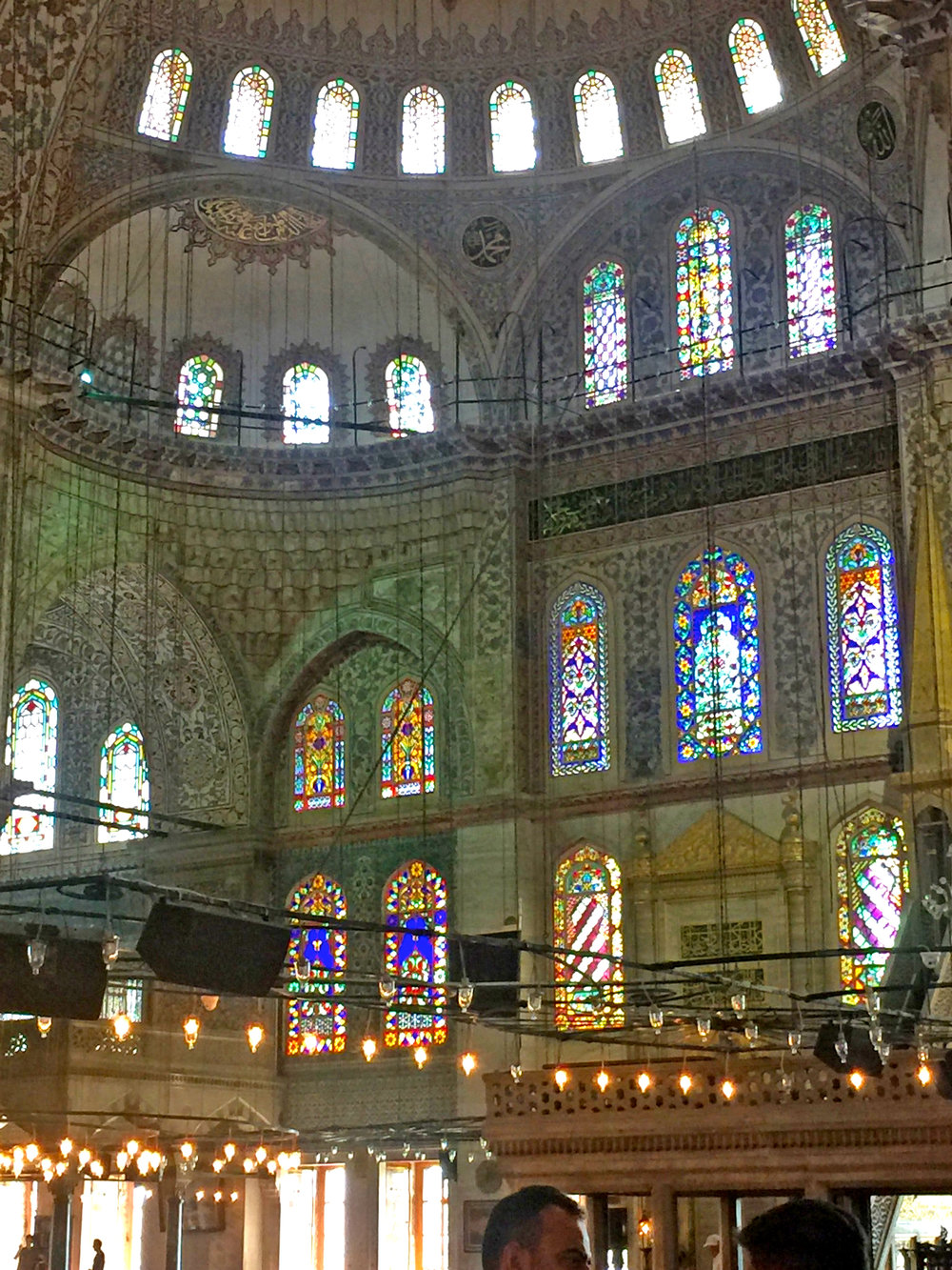 The beautiful windows of the Blue Mosque