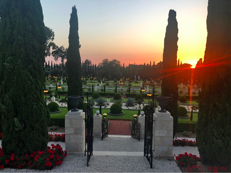Baha'i Gardens in Bahjí outside of Akko, Israel