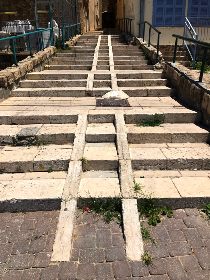 Akko Israel cart track and stairs