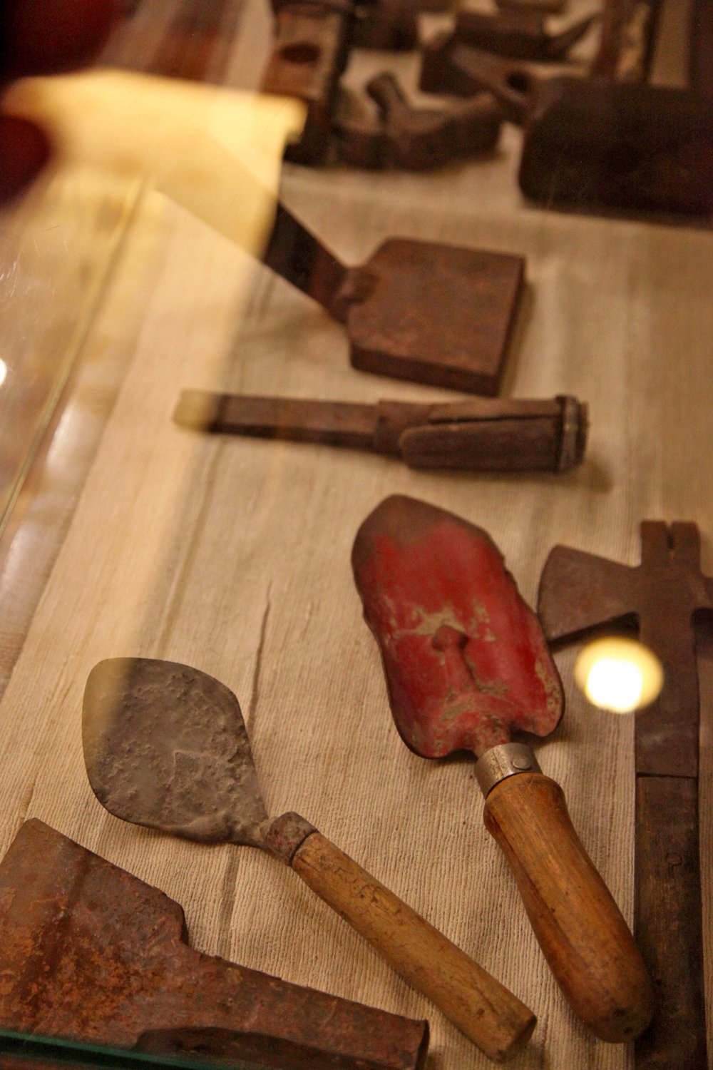 A sampling of tools used to build the temple.