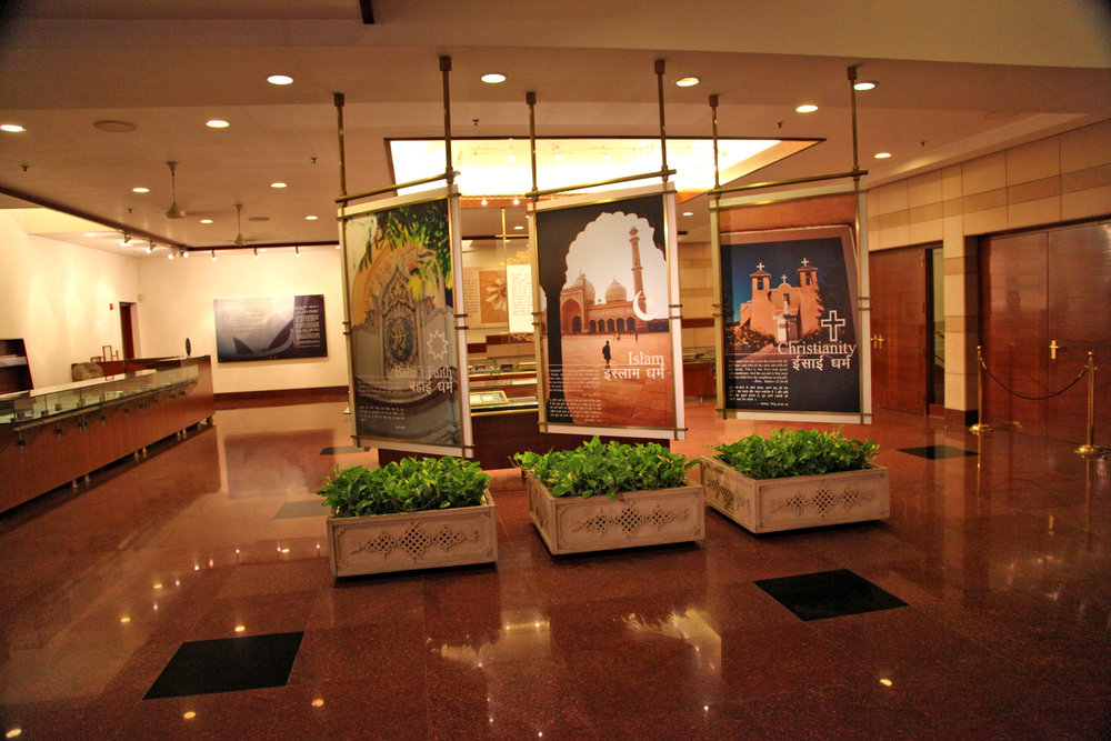 The display at the visitor's center, Lotus Temple