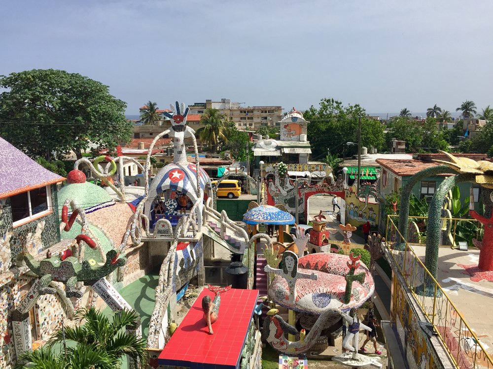 Fusterlandia, created by artist Jose Fuster is Cuba's version of Gaudi's Parc Guell in Barcelona