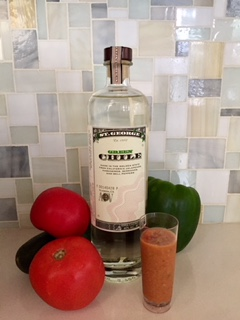 St. George Green Chile Vodka makes for a delicious Boozy Gazpacho