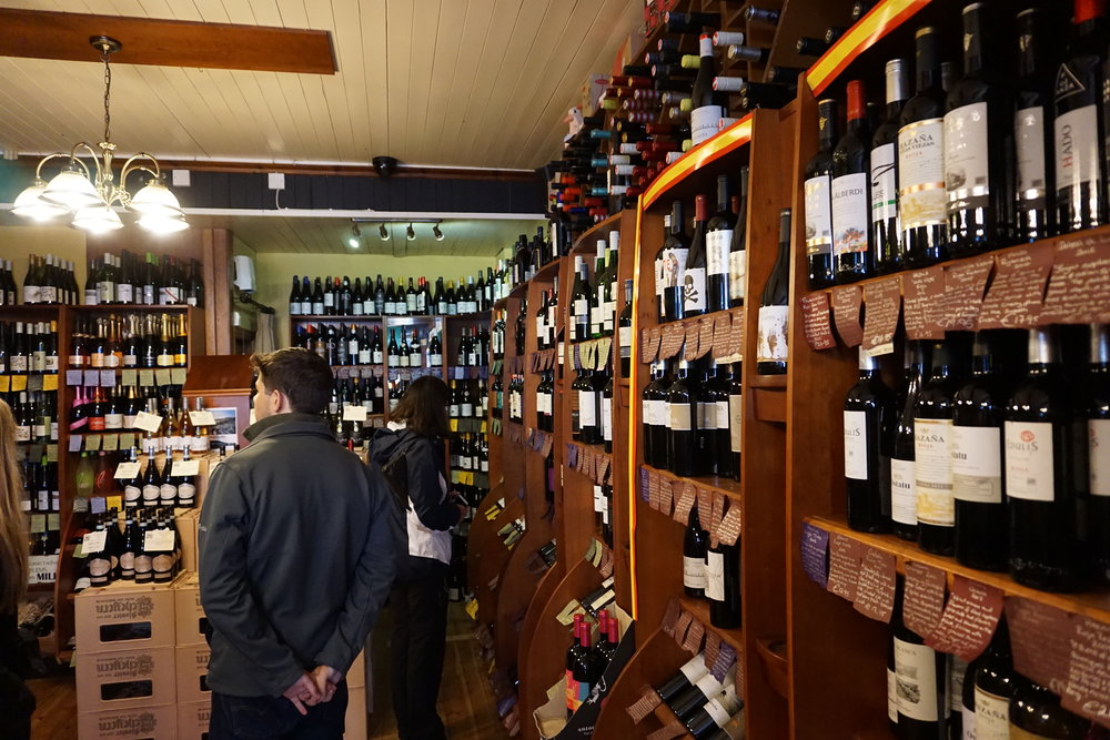 We picked up a  Lusca Cabernet Merlot and a Lusca White Cuvee No 1 produced by Llewellyns Orchard , and an assortment of meads and ciders to sample. We also bought wines we haven't seen before from Chile, France and Spain that are popular with the Irish.