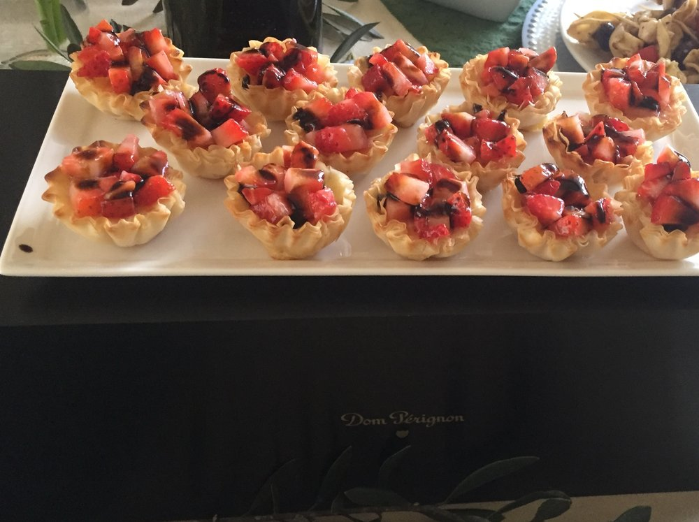 These tartlets pair very well with champagne. We sabered a bottle of  Dom Pérignon P2  for this celebration and we highly recommend the pairing!