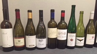 Wines tasted as a survey of the major wine regions