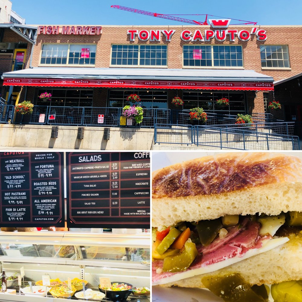 Caputo's Muffaletta is chock full of spicy olive goodness