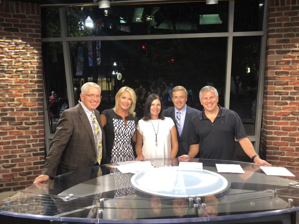 With anchors Shauna Lake, Mark Koelbel and Sterling Poulson at CBS affiliate KUTV