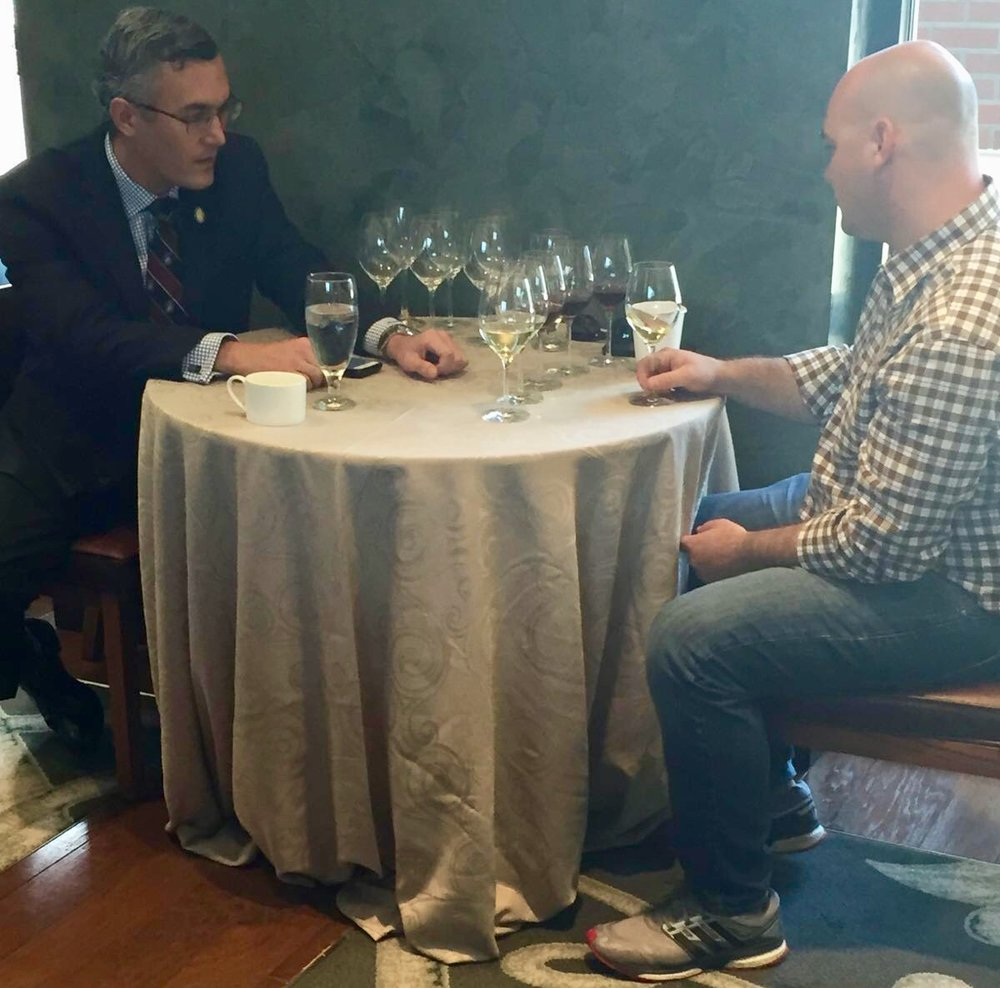 Master Sommelier, Andrew McNamara, tutoring a candidate for the Advanced Sommelier level - six wines, 25 minutes, no notes.