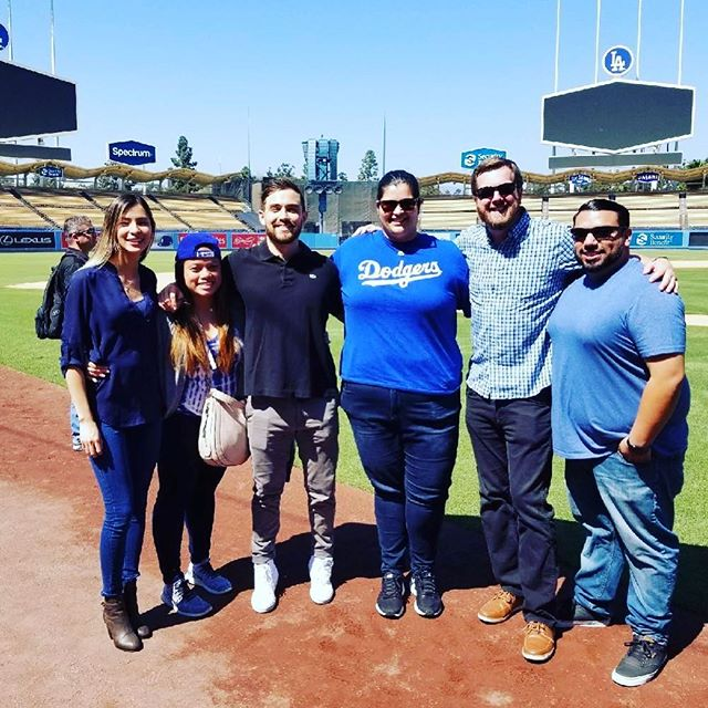 It's not everyday field is on field! #dodgerstadium #fieldonafieldtrip #marketcastingsohard