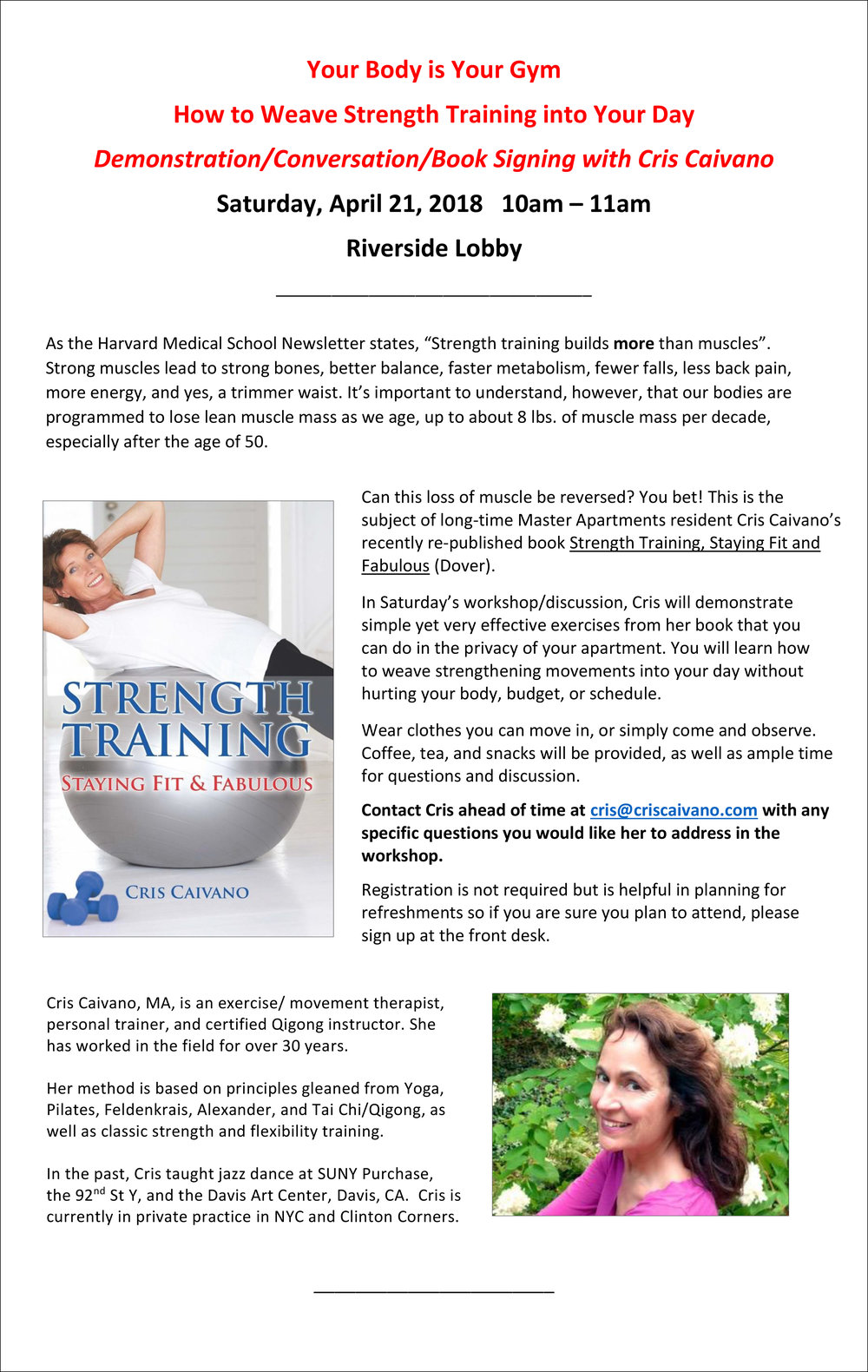 Your Body is Your Gym Program_Sat, April 21 10am_Cris Cavaino.jpg