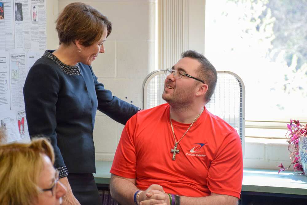 AG Healey visits Taunton's Friedman Middle School to see opioid education program in action -