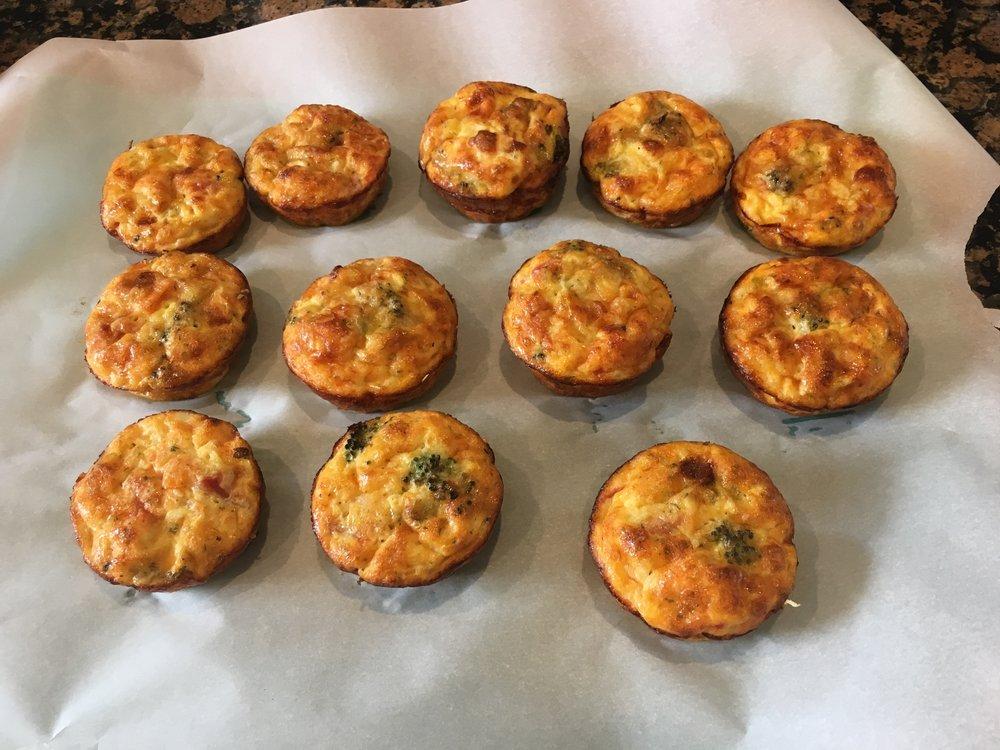 TURKEY SAUSAGE CHEDDAR MUFFINS, RECIPE AT: https://www.popsugar.com/fitness/Gluten-Free-Turkey-Sausage-Egg-Muffin-30839677