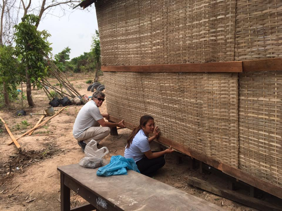 Adding New Walls To School In Siem Reap