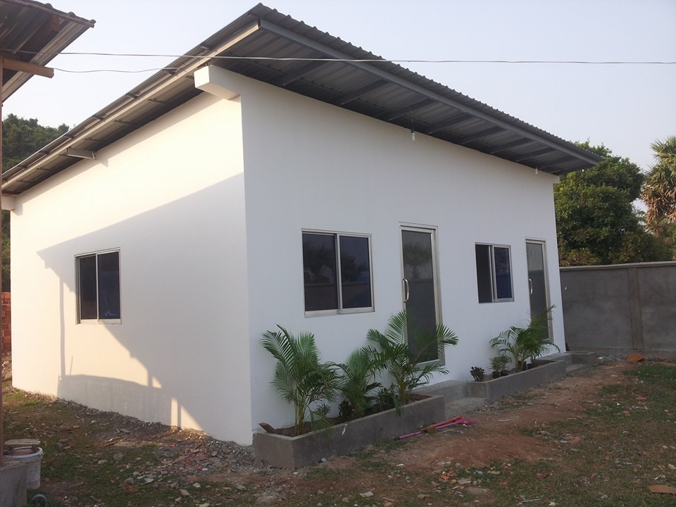 Completed classrooms at Sala Monkey School