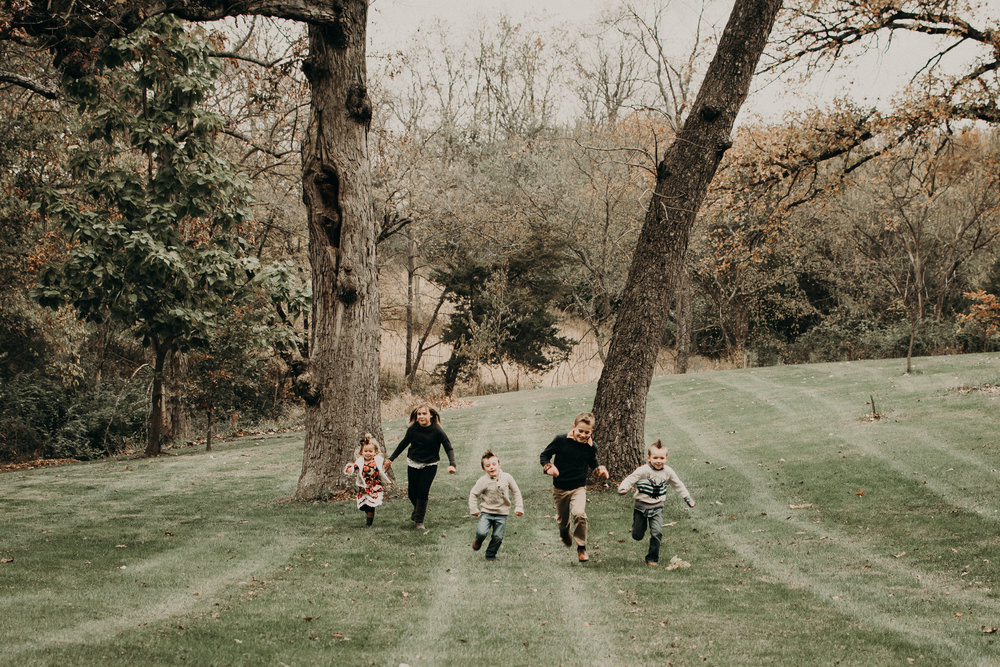 The grandkids were totally fine with running. Maybe they liked the warmth it brought...